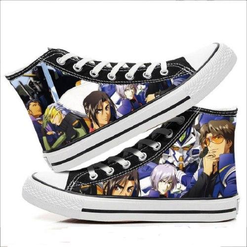 High-Q Unisex Anime GUNDAM Canvas Shoes GUNDAM Casual plimsolls duck shoe rope soled shoes