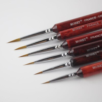 6pieces /lot 000#~3# Model DIY Pen Pointed Painting Brush Outline Pen Combo for Gundam Model Building Military Model Tool