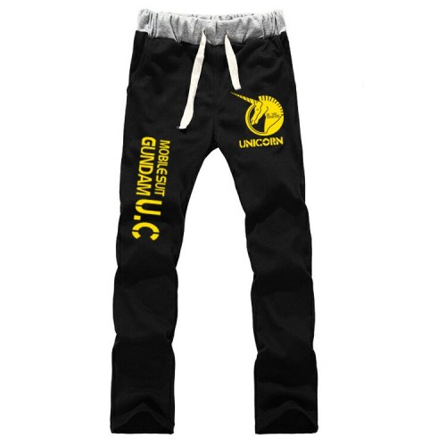 Mobile Suit Gundam Breathable Straight Sweatpants Cosplay Costume Casual Trousers Full-length Sports Pants