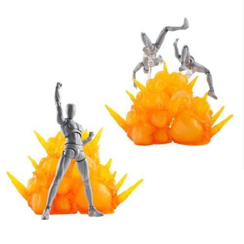 3Pcs Smoke Scene Model Explosive Effect Solid Decoration for Gundam Model