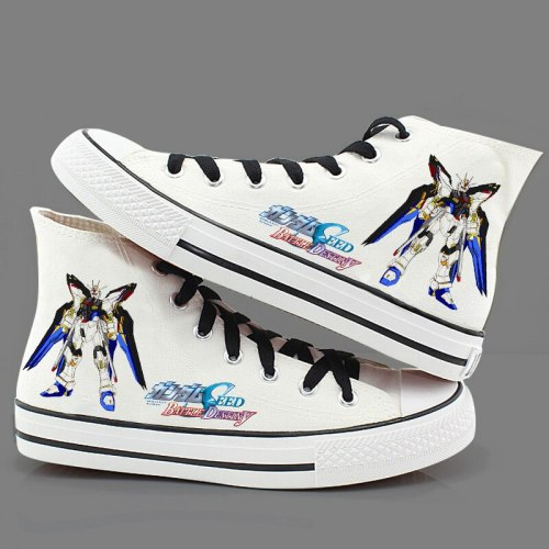 High-Q Unisex Anime GUNDAM plimsolls; canvas shoes; rope soled shoes Casual Daily Preppy Student Personality Hand-painted shoes