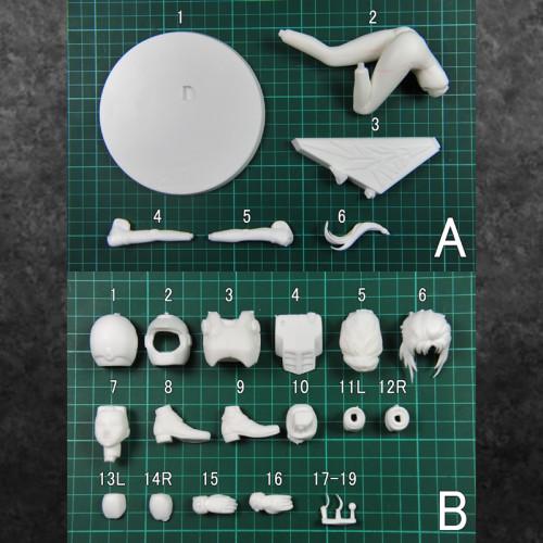 1/8 Excellent Model RAHDX Gundam Archives NEO Marida Cruz Unpainted GK Figure Unassambled hand-made resin white Model Toy