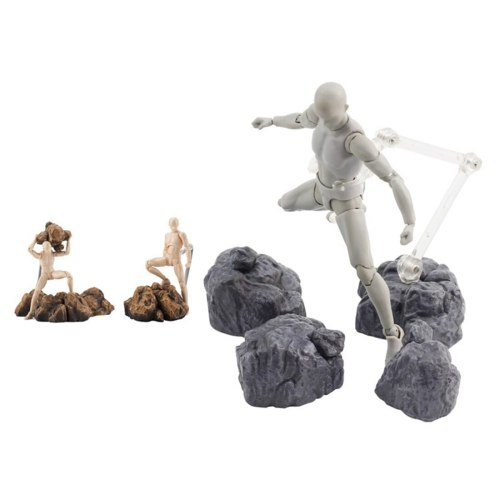 Stone Scene Model Stone Effect Decoration for Gundam Model Action & Toy Figures- Yellow