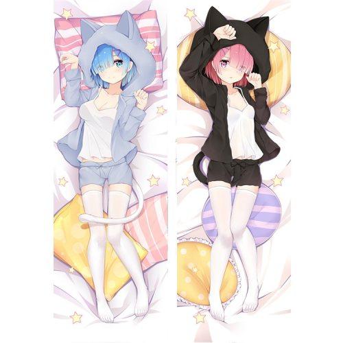 Re:Zero Starting Life in Another World Emilia rem ram anime dakimakura hugging pillow case re zero