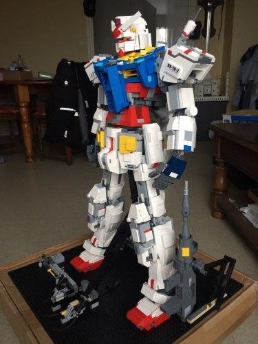 Hot super robot war mecha Classic gundam model 18K-RX78-2 1:60 3500Pcs Fixed bracket building block bricks Christmas toys