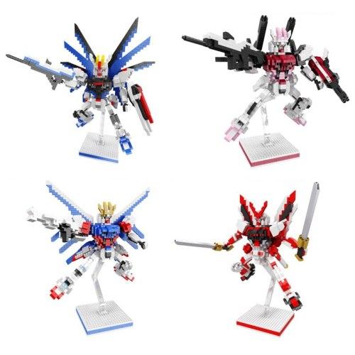 Super robot war seed DESTINY micro diamond block freedom Strike I.W.S.P Gundam red Astray assemble nanobricks model toys