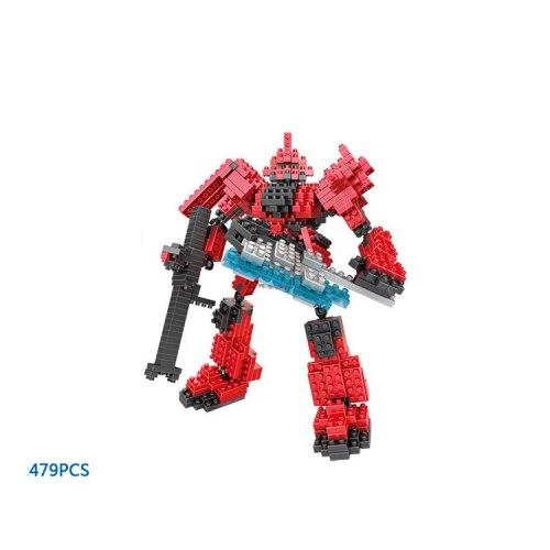 Super Robot war gundam building bricks Char red Zaku micro diamond block model assemblage nanobricks toy collection for boy gift