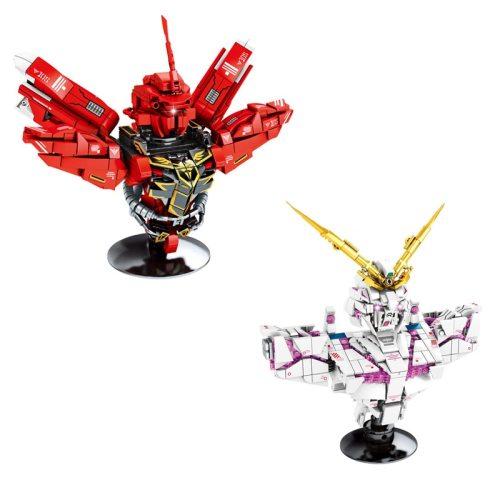 Hot super robot war Bust building block RX-0 unicorn gundam uc Sinanju bricks assembly model toys collection for boys gifts