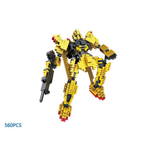Hot Robot war building bricks MSN-100 golden gundam Z micro diamond block Hyaku Shiki model nanobrick toys collection for gifts