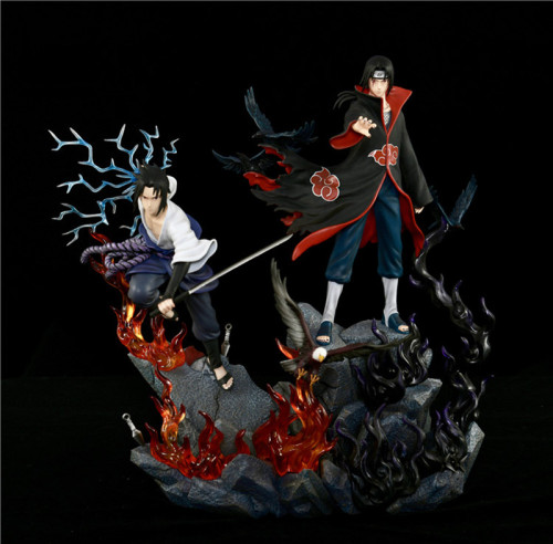 Naruto Uchiha Itachi & Uchiha Sasuke  The final battle is limited to 30 seats in the world, 40cm tall, figure statue, GK animation toy collection