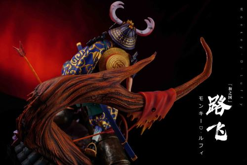 One Piece Wano Country Samurai Straw Hat Mission Series Samurai Luffy Limited Hand-made Statue  1/6 32cm wide, 37.5cm high, 25.5cm deep