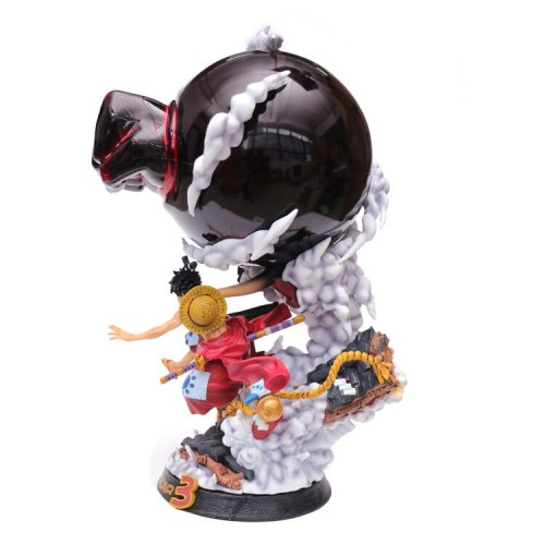 Anime One Piece Land Of Wano Country Monkey D Luffy Gear 3 PVC Action Figure Collection Model Toys