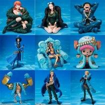 One Piece Figure Anime 20th Anniversary Ver. Luffy Zoro Chopper Usopp Nami Sanji Robin Franky Brook Action Figure PVC Model Toy