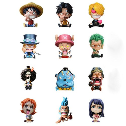 4.7  Anime ONE PIECE Luffy Ace Zoro Sabo Sanji Robin Chopper Nami Franky GK Box Action Figure Collectible Model Toy Y37 12cm