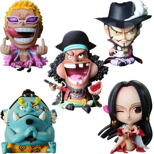 10cm One Piece Donquixote Doflamingo Jinbe Marshall D Teach Boa Hancock PVC Action Figure Anime One Piece Collectible Model Toy