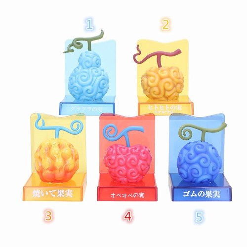 Anime One Piece Devil Fruit Figure Toy Cursed Fruit Model Doll Show Cartoon 5 Styles Collectible Figure toys