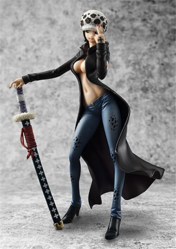 20cm One Piece Trafalgar Law sexy Anime Action Figure PVC Collection Model toys for christmas gift free shipping