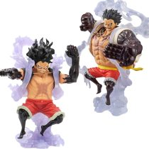 18 CM Anime One Piece King of Artist The Snake Man Luffy Snakeman One Piece Monkey D Luffy Gear 4 Figure PVC Collectible Toys
