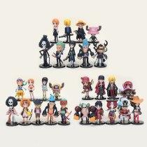 Anime One Piece Figure set Zoro Nami Usopp Sanji Tony Chopper Nico Franky Brook Luffy Action Figures Model Toys