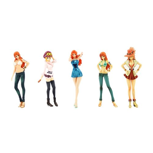 15CM Anime DXF One Piece Nami Nobi Nico Koala Nami PVC Action Figure Model Collection Toys