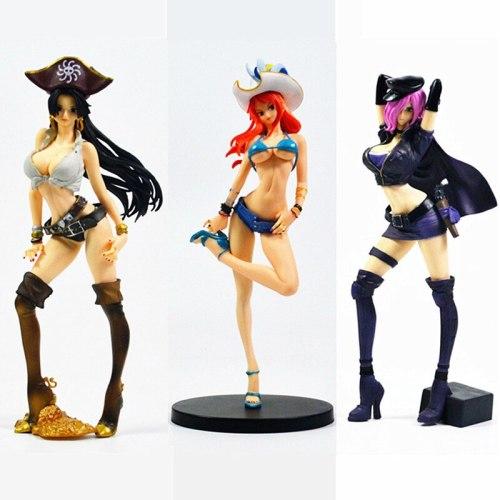 23CM One piece anime figure Boa Hancock Nami Reiju figurine beautiful sexy girl action figure PVC Collection model toys