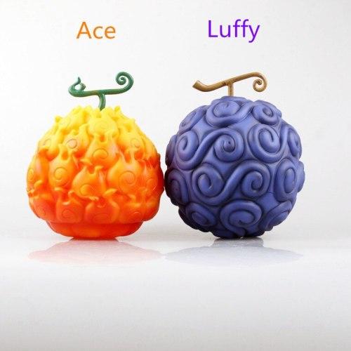 Hot Sale One Piece 18CM Devil Fruit Ace Flame-Flame Fruit & Luffy Gum-Gum Fruit PVC Action Figure For Fans Collection