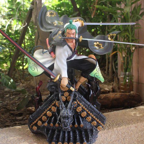 50CM Anime ONE PIECE Statue Roronoa Zoro GK Kimono Ver. Action Figure GT Toys