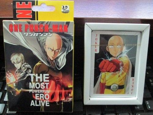 54 pcs/set One Punch Man figures anime ONE PUNCH-MAN Saitama,Jie Nuosi,tatsumaki  figures cosplay  Poker Cards free shipping