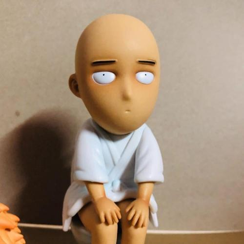 One Punch Man Saitama Sensei Toilet Action Figures 150mm Anime ONE PUNCH-MAN Figurine Model Toy
