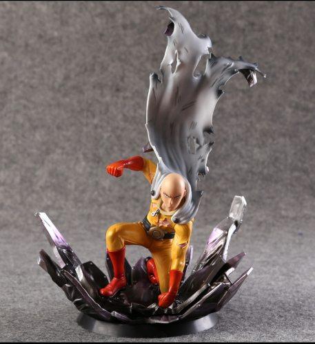 One Punch Figure Saitama Sensei One Punch Man Figure One-Punch Man Genos 240MM PVC Kids Toys Juguetes Model Doll Toy Gift