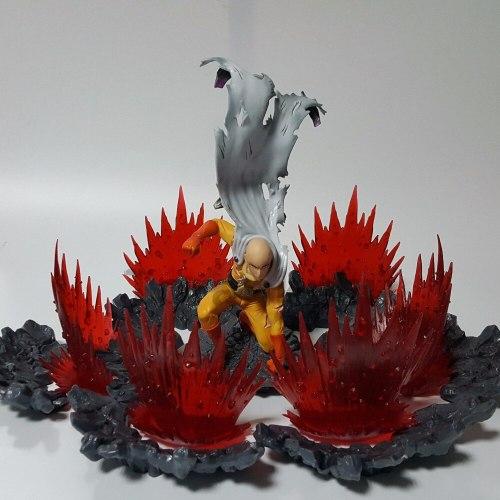 One Punch Man Action Figures Saitama Sensei Power Up Scene Anime ONE PUNCH-MAN Saitama Sensei Figurine Model Toy