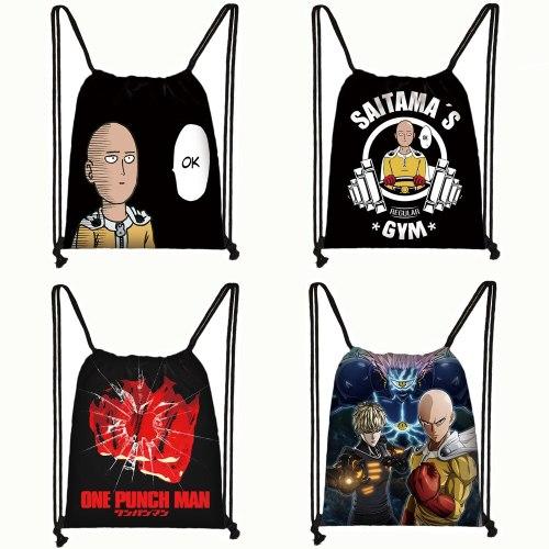 anime One Punch Man drawstring bag women men backpack Saitama Genos travel bag teenager boys ONE PUNCH-MAN storage bag book bag