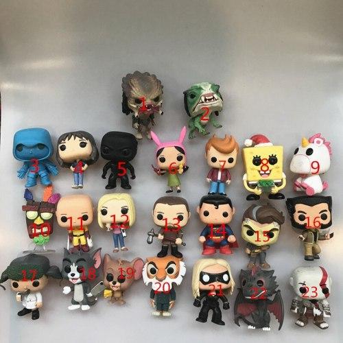 Funko pop Bob's Burgers, Flash, Predator, Joyce, One punch Man, Logan, Hanna Jerry, Game Dragon, Superman Vinyl Figure Loose Toy