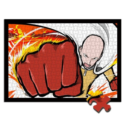 One Punch Man wooden jigsaw puzzle 1000/500/300 pieces Saitama Genos A punk Superman wood toys for children