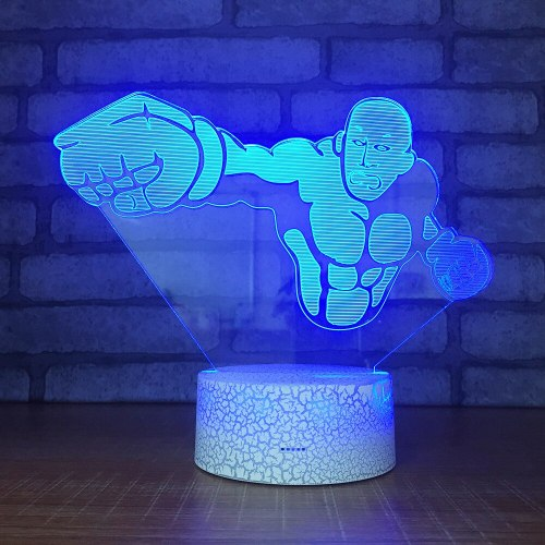 One Punch Man LED RGB Night Light 7 Color Change Desk Light 061 Action Figure PVC Kids Toys Brinquedos Christmas Gift
