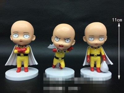 3pcs/Set Hitman Q Version One Punch Man Hibari Kyoya Sawada Reborn Tsunayoshi PVC Action Figure Collection Model Cartoon Toys