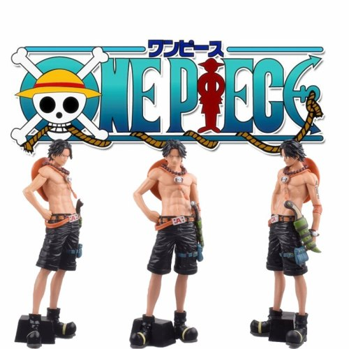 New Ace 28cm Grandista One Piece Monkey fire punch Figure Toy Grandline Men Ace Anime Collectible Model Dolls action figure toy