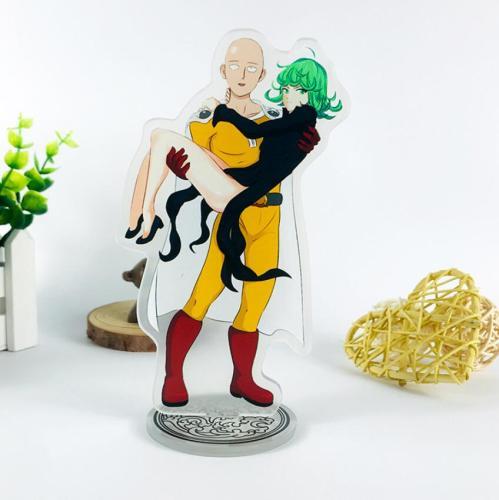 Anime ONE PUNCH-MAN Saitama Genos tatsumaki Sonic Acrylic Stand Figure Desktop Decoration Collection Model Toy Cosplay Doll