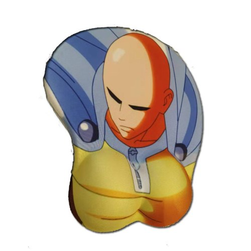 Anime ONE PUNCH-MAN 3D Chest Silicone Wrist Rest Mouse Pad notebook PC Saitama  playmat