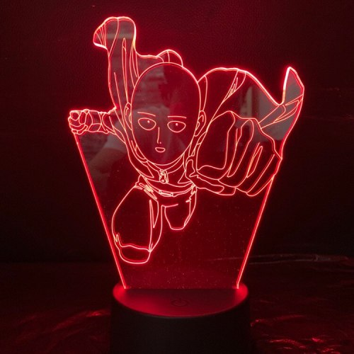 ONE PUNCH-MAN 3D LED Night Light 7 Color Changing Lamp Room Decoration Action Figure Toy For Birthday Christmas Gift