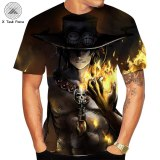 3D print summer One Piece T shirt Japanese Anime Luffy's brother  Tshirt men loose casual top tee men clothes tee shirt homme