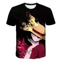 2020 LUCKYFRIDAYF One Piece 3DT-Shirt Luffy Straw Hat Japanese Anime funny T Shirts MEN WOMEN O-neck Black SHORT SLEEVE T-shirt