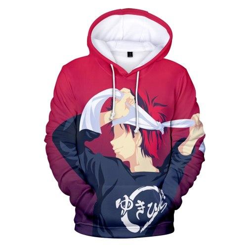 Spirit of Eat Halberd Hoodies 3D Anime Sweatshirts Men/women Pullovers Fashion 3D Hoodies Food Wars Shokugeki no Soma Hoodie