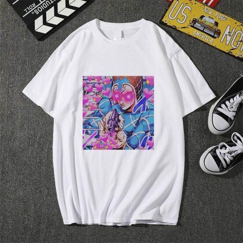 Showtly Cool  Men/Women T shirt Jojo Bizarre Graphic Print Adventure Cool Japanese Anime Style Soft Plus-Size Cool  Tee Top