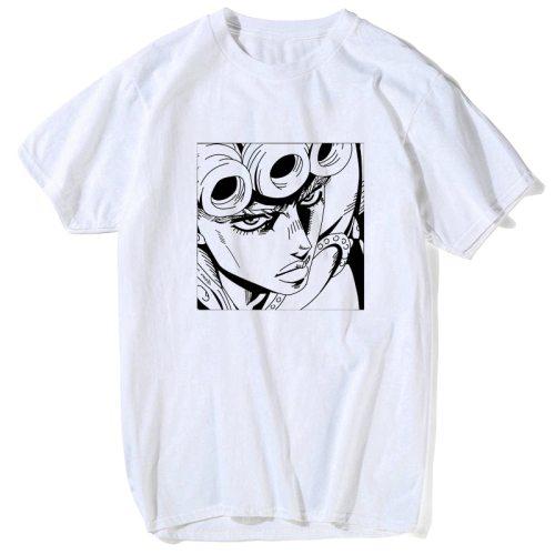 T Shirt Cool JoJo Bizarre Adventure Graphic Print Tee Homme Japanese Anime Style Tshirt Plus Size Cotton Soft Tops T-Shirt Men