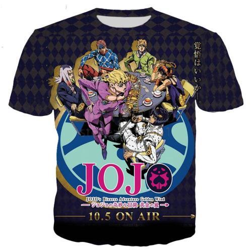 New arrive JoJo Bizarre Adventure t shirt men women 3D printed novelty fashion tshirt hip hop streetwear casual summer tops