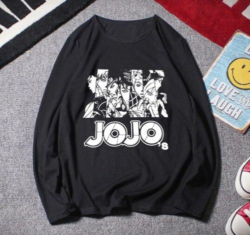 HOT Sale summer JoJo JoJo's Bizarre Adventure t-shirt Anime Dio Brando men long t shirt summer cotton Tees Tops