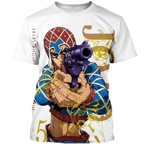 New  arrvie JoJo Bizarre Adventure t shirt men women 3D printed novelty fashion tshirt hip hop streetwear casual summer tops