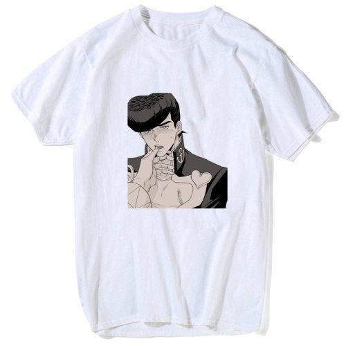 JoJo Bizarre Adventure T Shirt Creative Design Novelty T Shirt Casual Style Skate Brand Men Top Tee Manga Anime Cool Funny Shirt