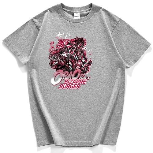 Jojo's Bizarre Adventure T-Shirts Man 2020 Summer New Short Sleeves Japanese Anime Clothing For Men Casual Cotton T Shirts Men's